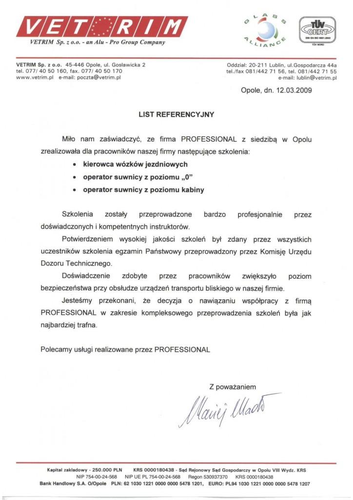 Vetrim WJB i suwnice 12.03.20091