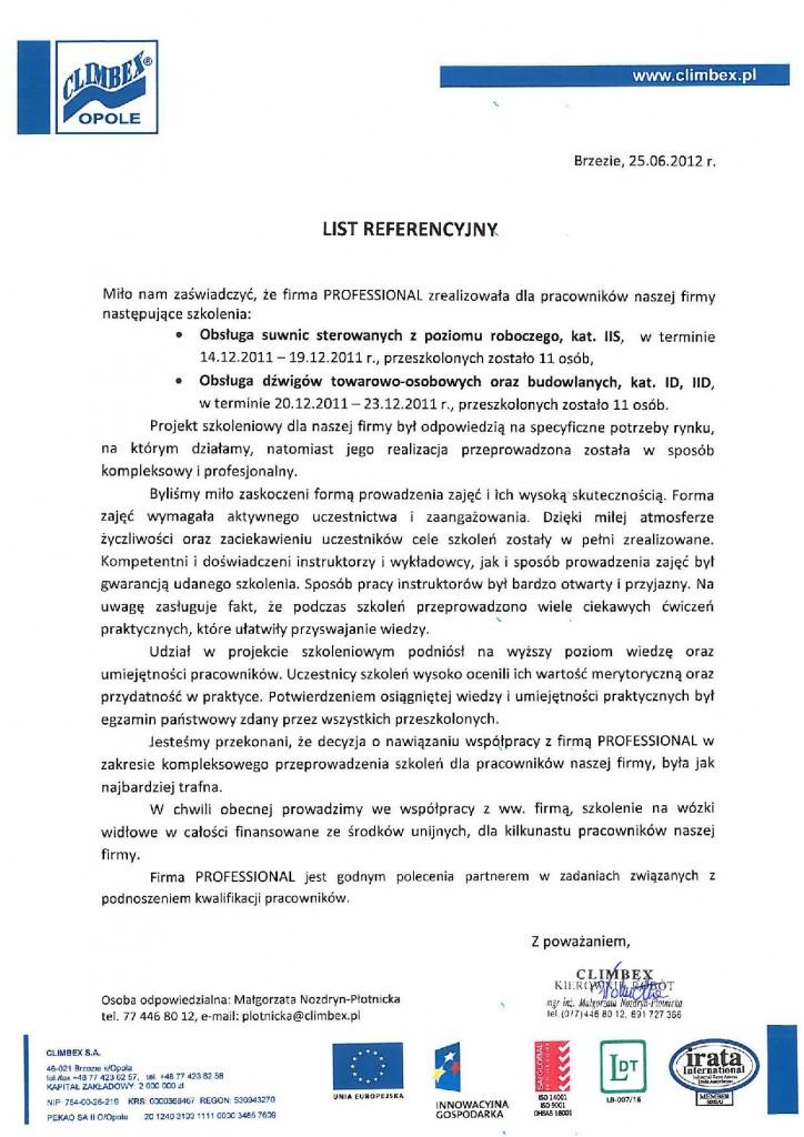 Climbex IIS, ID, IID 25.06.20121